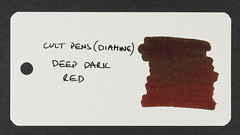 Cult Pens (Diamine) Deep Dark Red - Word Card