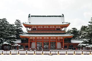 雪景色の平安神宮 / Heian-jingu Shrine in Winter