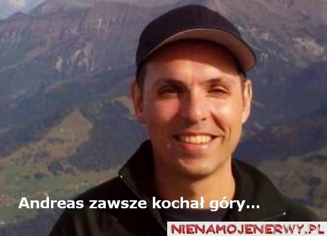Andreas Lubitz kochał góry