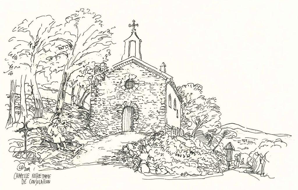 Ruines du Vieux Village - ChapelleNotre Dame de Consolation