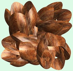 4 Knots /  (TANAKA Juuyoh ()) Tags: knot    mathematica 3d cg parametricplot3d texture code program algorithm abstruct graphic design pattern structure mapping figure                     symmetry