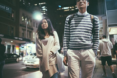 Night Trawl - Sony A7 Summilux 35mm (Col Jung) Tags: street leica woman night evening sydney streetphotography australia nightlife posture 35mmf14 35mmsummilux