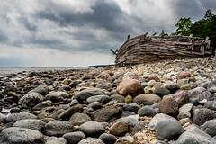 Traces of a storm III (Jens Haggren) Tags: sea sky clouds rocks sweden olympus shore wreck öland em1