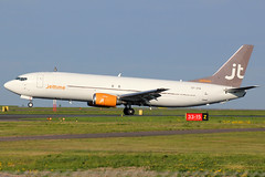 OY-JTN | Boeing 737-4Q8SF | Jettime (cv880m) Tags: finland helsinki landing boeing hel vantaa 737 freighter 737400 734 73f aircargo 7374q8 jettime oyjtn