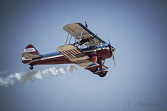 Lady Wing Walker (A Anderson Photography, over 1 million views) Tags: canon airplane airshow sundance biplane stearman wingwalker superstearman n4442n