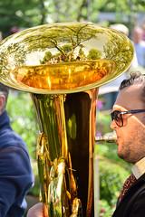 Shiny tuba in reflection (Maria Eklind) Tags: park summer musician reflection se musiker dof sweden outdoor depthoffield instrument sverige malm shining slottsparken spegling skneln bastuba basstuba malmgardenshow