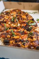 barbecue chicken pizza (jojoannabanana) Tags: food chicken pizza barbecue basil