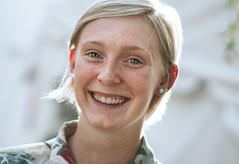 Girl from Indi (Stranger 21) (Emmanuel RA) Tags: park travel portrait white girl smile face canon river hair indianapolis indiana stranger blonde