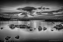 Lochan na h-Achlaise (Ross Forsyth - tigerfastimagery) Tags: blackandwhite bw landscape scotland highlands scenery nik loch blacknwhite lochan lochannahachlaise silverefex