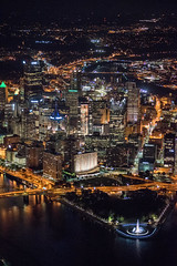 An aerial view of Pittsburgh at night (Dave DiCello) Tags: pittsburgh aerials pittsburghskyline downtownpittsburgh davedicello imagesofpittsburgh viewsofpittsburgh pittsburghprints pittsburghskylineimages aerialpittsburgh pittsburghfromtheair aerialviewsofpittsburgh