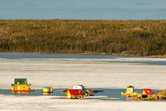 houseboaters have an interesting commute (useless no more) Tags: canada ice houseboat nwt arctic northern iceflow yellowknife subarctic yellowknifebay canadasnorth scottlough