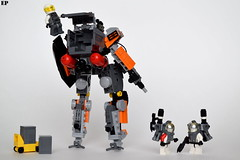 CSA - MA-01C Powered Seraphim I (ExclusivelyPlastic) Tags: robot lego space military scifi mecha mech gundamish