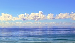 Perfect Day (~Vision ~A i r y ~) Tags: ocean blue sky beach nature water clouds reflections photo seaside natural image calming peaceful coastal harmony serenity serene stillness glassy visionairy 25062016