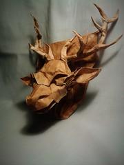 Deer Head by Andrey Ermakov (Nikita Vasiliev) Tags: origami head deer shield andrey ermakov