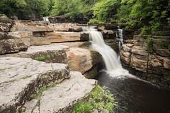 Kisdon Force (Sarah Howard Photography) Tags: uk longexposure summer england water landscape waterfall scenery yorkshiredales swaledale polariser