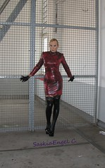 dress rehearsal for Tortureship Pic 2 (SaskiaEngel) Tags: highheels tgirl transgender tranny transvestite heels halsband holdup transe wetlook kleid korsett transvestit tgirls holdupstockings