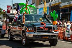 parkes-2570 (yukkycakes) Tags: parkes newsouthwales australia parkeselvisfestival streetparade decorative black 4wd cactus inflatable palmtree tequila funinacapulcotheme crowd watching