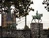 Equestrian statue of Emperor Wilhelm II at the Hohenzollern bridge in Cologne, Germany (PhotosToArtByMike) Tags: hohenzollernbridge rhineriver colognegermany greatstmartinchurch emperorwilhelmii equestrianstatue cologne germany dom koln rail railway kölnerdom oldtown oldquarterofcologne europe