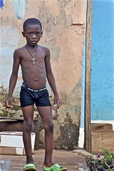 Presidential Underwear (Pejasar) Tags: boy shirtless bathtime bathing cross presidential underwear obama child frontporch nkwanta ghana westafrica africa greenshoes