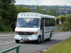 C&R Travel (Abertillery) YU04 XHX (welsh bus 16) Tags: beaver mercedesbenz 0814 plaxton fleurdylys crtravel yu04xhx