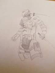 Deathstroke Drawing (The Real Sligor) Tags: comics dc mask drawing katana grenade mercenary deathstroke