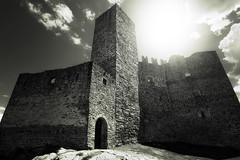 Casterly Rock (PHTMatrix) Tags: light castle architecture clouds landscape blackwhite wideangle