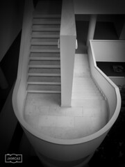 Escalera/ Staircase (Jose Antonio. 62) Tags: blackandwhite bw espaa blancoynegro beautiful architecture stairs spain arquitectura gijn escaleras