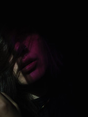 Deepest wishes (JackyDiamond) Tags: black background purple light portrait self lips sensual
