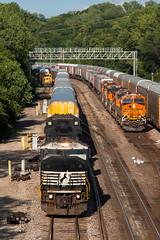 Three In, One Out (Jake Branson) Tags: santa city railroad argentine yard train ns ks norfolk southern kansas kc fe bnsf cr conrail sd402 atsf sd60m gevo 6795