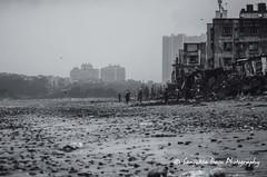 Versova Beach, Mumbai (Sanjukta Basu) Tags: seabeach travel india solotravel rains mumbai versova outdoor dark