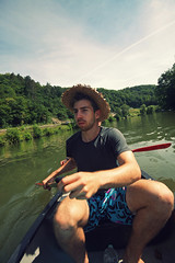 (felix.h) Tags: summer portrait man guy nature water canon river eos boat wideangle canoe portraiture canoeing lahn sigma1020mm sigma1020 400d canoneos400d digitalrebelxti eoskissdigitalx