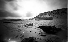 (plansac) Tags: sea mer noiretblanc pinhole bunker argentique petitnice bassindarcachon filmphotography ilfordpanf50 stnop agfabillyrecord blackwhitephotos