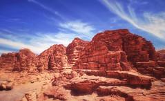 Stark Red (madcityfinearts) Tags: jordan wadirum bedouin desert cliffs sand sandstone landscape travel