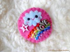 Happy Rainbow Cloud Brooch Pin (Chasing Miss Rainbow) Tags: cloud happy rainbow pin brooch
