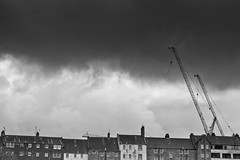 Edinburgh. (Ian McWilliams.) Tags: sky storm cold wet rain weather scotland edinburgh windy stormy gale cranes housing galeforcewinds sormclouds canon550d