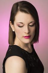 Gradient. (hayleyskeaphotography) Tags: lighting pink portrait people beautiful beauty studio model soft expression makeup gradient portaits