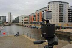 IMG_0480 (Yorkshire Pics) Tags: camera green boats boat tripod leeds narrowboat barges clarencedock greenboat gopro clarencedocks leedswaterfront goprocamera timelapsecamera leedsdock