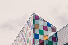 #093 (bruit_silencieux) Tags: city sky art rain museum architecture clouds canon buildings musée line moderne strasbourg exposition tiles 7d 365 minimalist buren contemporain mamcs 365project sigma35mm14art