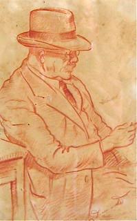 Ritratto di Vittorio  Diamante, 1946,