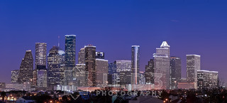 Houston Skyline Blue Hour Panorama v2