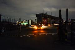 馬こうもん (m-louis) Tags: car japan architecture night truck gate riverside sony 大阪 日本 osaka 建築 yodogawa 20000views 淀川 kema 10000views 閘門 100faves 200faves rx100 軽トラ 毛馬 miyakojimaku 毛馬こうもん 都島区 sonyrx100