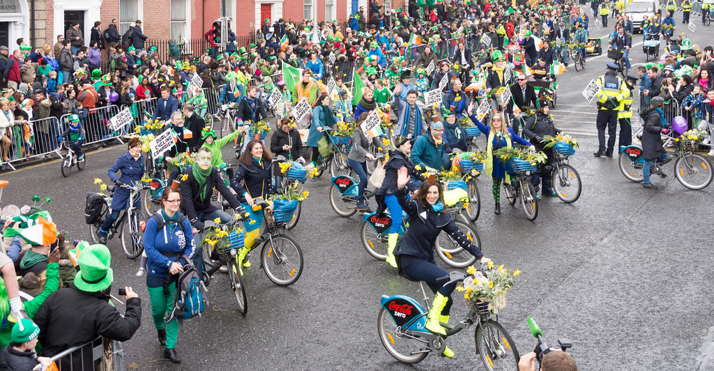 DUBLIN CYCLING CAMPAIGN - ST. PATRICK'S PARADE 2015 IN DUBLIN REF-102358