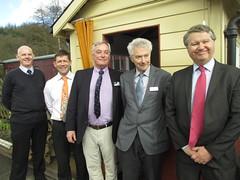 Simon Gudgeon, Sponsor, Simon Barraclough, John Bailey, Robin Leleux, Philp Benham at lamp room opening 25Mar15