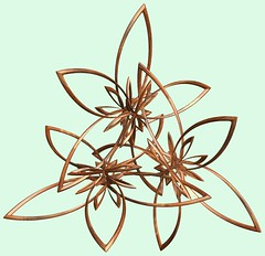 3 Knots /  (TANAKA Juuyoh ()) Tags: knot    mathematica 3d cg parametricplot3d texture code program algorithm abstruct graphic design pattern structure mapping figure                     symmetry
