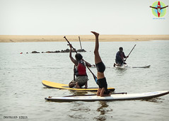 Yoga on water (pradeep javedar) Tags: sports water up yoga stand surf board paddle sup headstand puri eventphotography odisha canon600d indiasurffestival isf2015