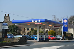 Gulf, Caton Lancashire. (EYBusman) Tags: ford station gulf garage dcc lancashire gas service petrol gasoline total filling caton certas eybusman