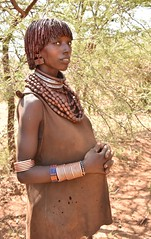 Maternity,Hamar Tribe (Rod Waddington) Tags: africa portrait people woman female dress outdoor african traditional tribal pregnant maternity afrika omovalley ethiopia tribe ethnic hamar hamer ethnicity afrique ethiopian omo thiopien etiopia ethiopie etiopian