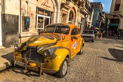 Classic car in Havana, Cuba (Rui P Baio) Tags: travel panorama tourism latinamerica landscape island tour angle cuba wide wideangle panoramic traveller communism spanish fidel latin northamerica caribbean che latino cuban revolucion guevara caribe