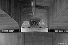 Unter der Autobahnbrcke (vivalatinoamerica) Tags: von brcke unten autobahnbrcke rheinfelden schwarzweis grenzbrcke