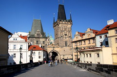 Charles Bridge in Prague (annalisabianchetti) Tags: city bridge urban prague cityscapes praga architectur